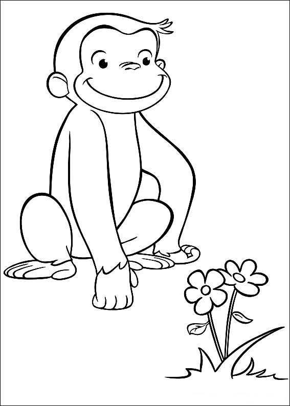 Curious George Coloring Pages To Print At Getdrawings Com Free For