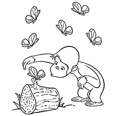 Curious George Face Coloring Pages