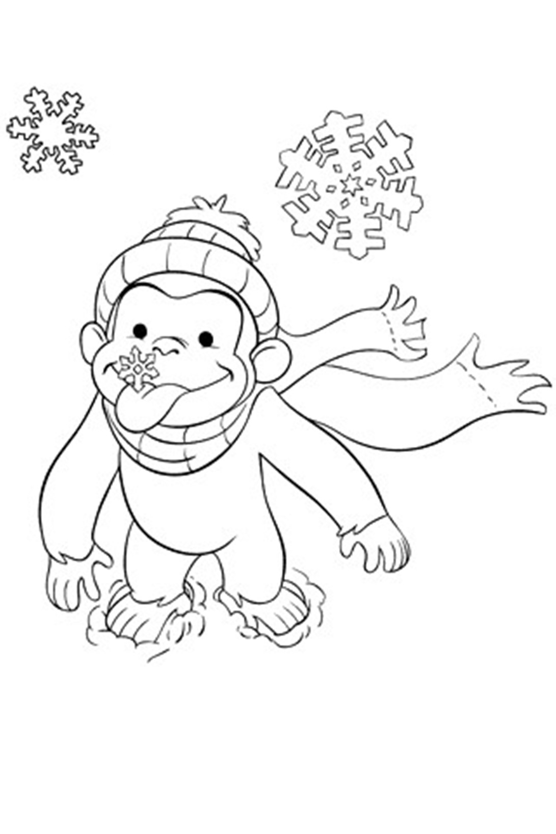 Curious George Face Coloring Pages at GetDrawings | Free ...