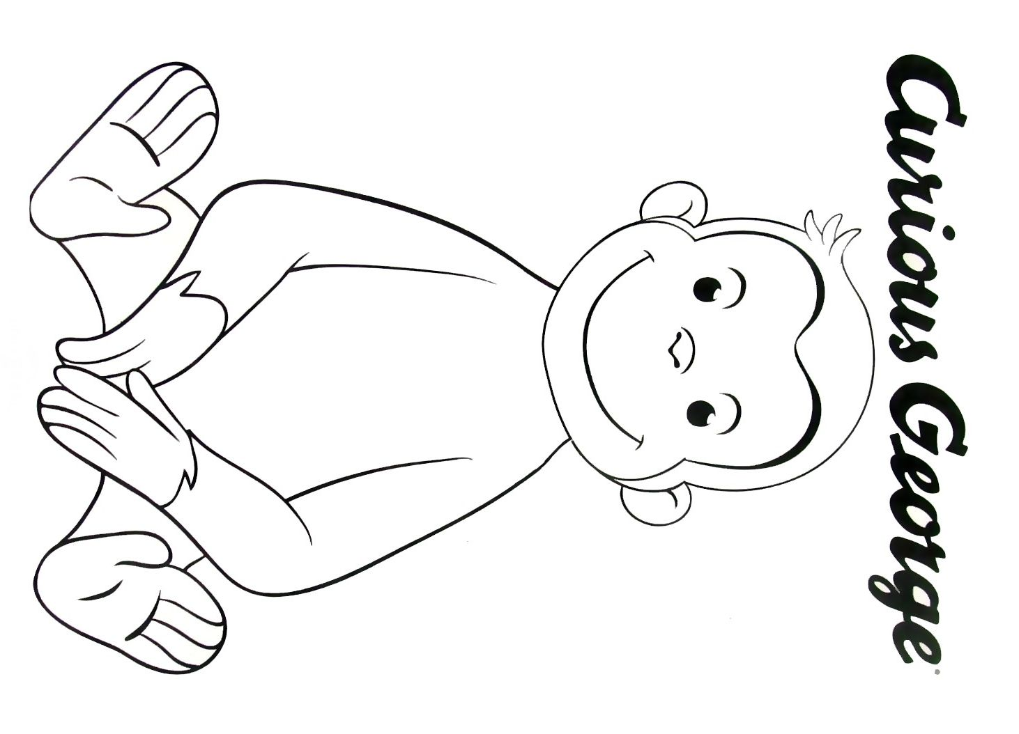 Curious George Face Coloring Pages At GetDrawings.com