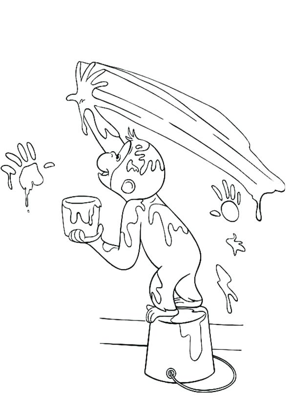 600x840 Curious George Coloring Pages Coloring Pages Eating Ice Cream