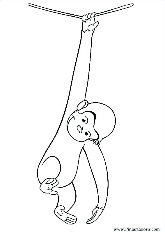 567x794 Curious George Coloring Pages Curious Coloring Pages Drawings