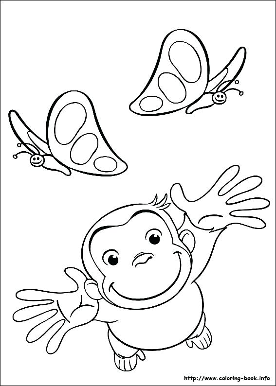 567x794 Curious George Coloring Pictures Curious Ornament Curious George