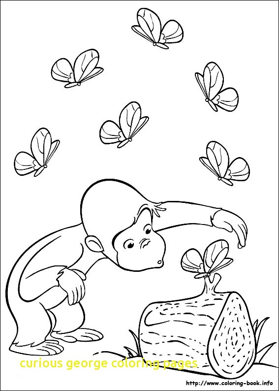 567x794 Curious George Coloring Pages Halloween Archives