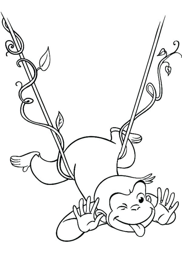 600x840 Curious George Coloring Pictures