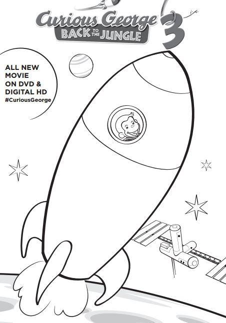 Curious George Printable Coloring Pages At Getdrawings Com Free