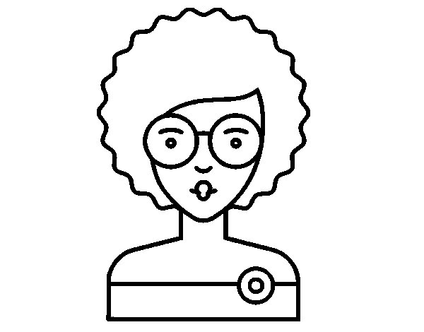 600x470 Girl With Curly Hair Coloring Page