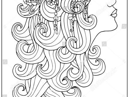 440x330 Taylor Swift Curly Hair Coloring Page Color Luna, Hair Coloring