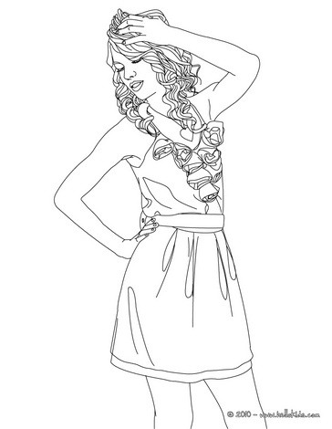 364x470 Taylor Swift Curly Hair Coloring Pages