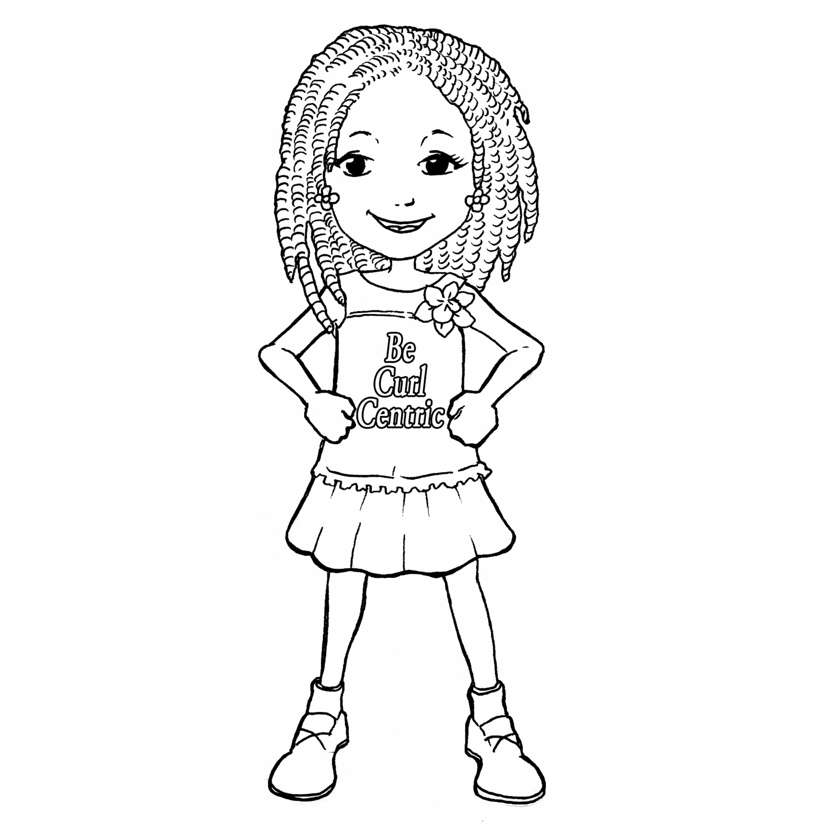 2700x2700 Best Of Curly Hair Girl Coloring Page Inspiring Art