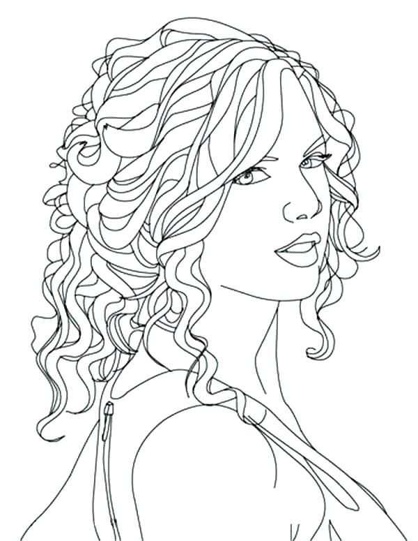600x775 Natural Hair Coloring Pages