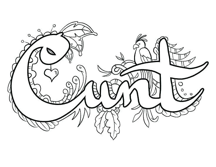 30 Coloring Pages For Adults Cuss Words - Free Printable Coloring Pages