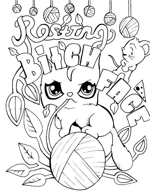 Curse Word Coloring Pages Free Printable