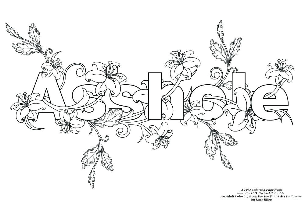1000x667 Cuss Word Coloring Pages Swear Word Coloring Pages Printable Plus