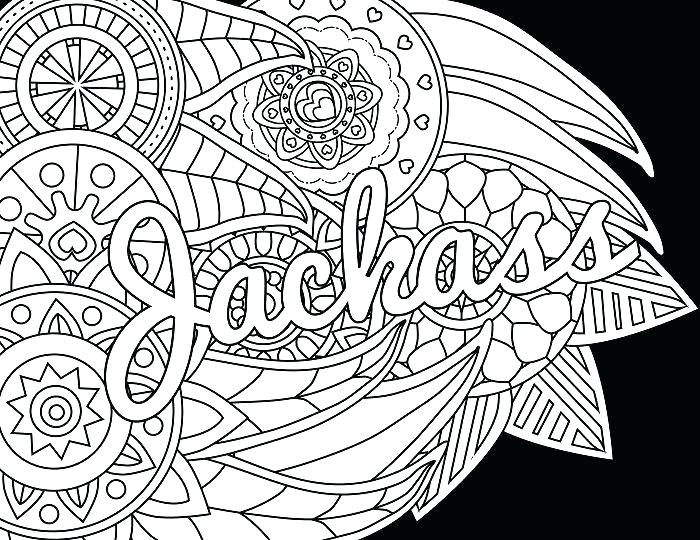 700x540 Swear Word Coloring Pages Printable Adult Flowers