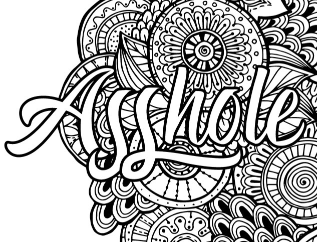 633x484 Adult Curse Word Coloring Book Stunning Design