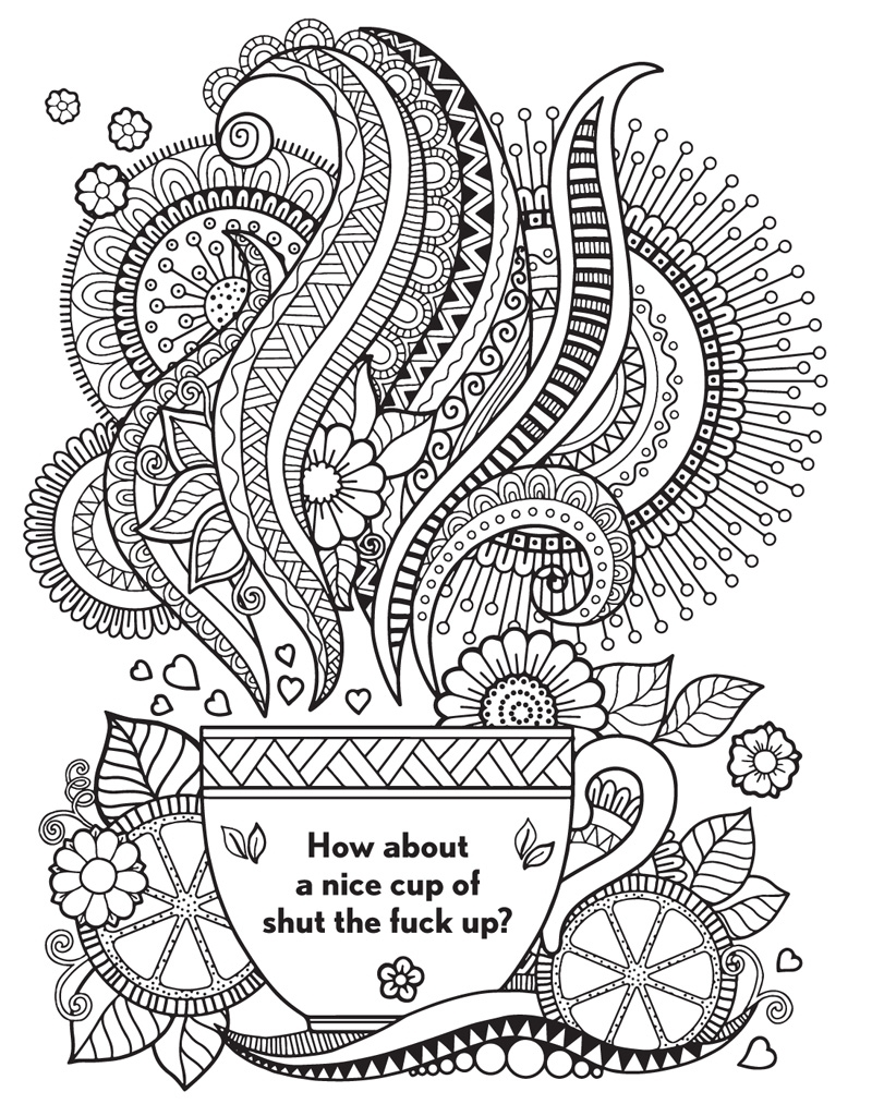 800x1024 Awesome Cuss Word Adult Coloring Pages Printable Gallery