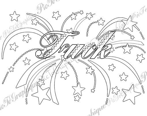 Cursing Coloring Pages At Getdrawings Com Free For Personal Use