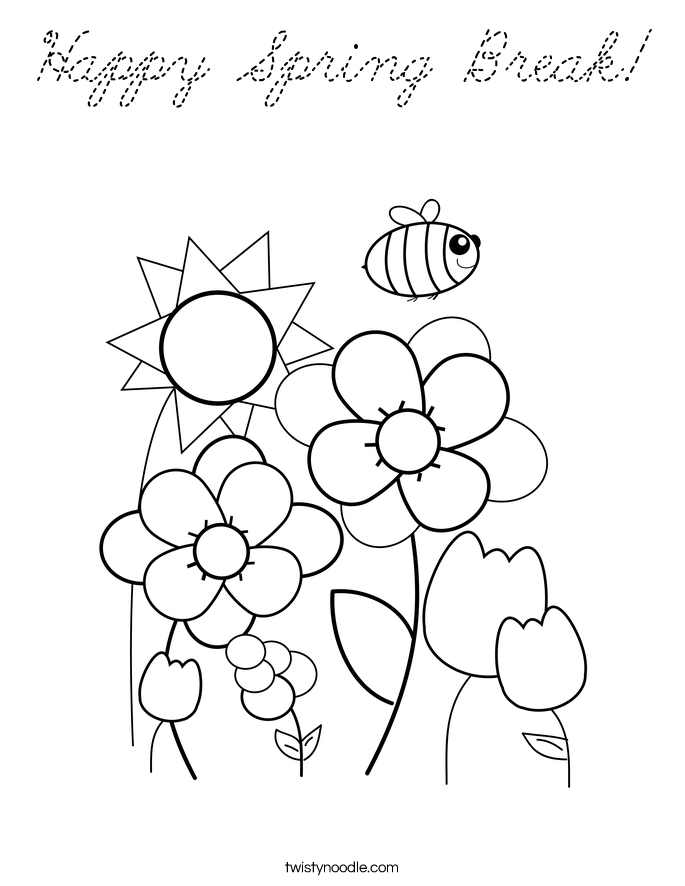 Cursive Coloring Pages