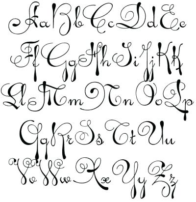 400x411 Fancy Cursive Letters Fancy Cursive Letter L Coloring Pages Fancy