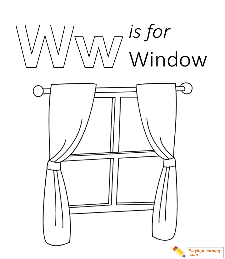 720x830 Window Coloring Page
