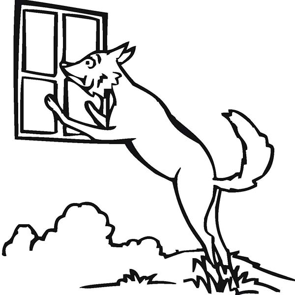 600x600 Window Coloring Pages