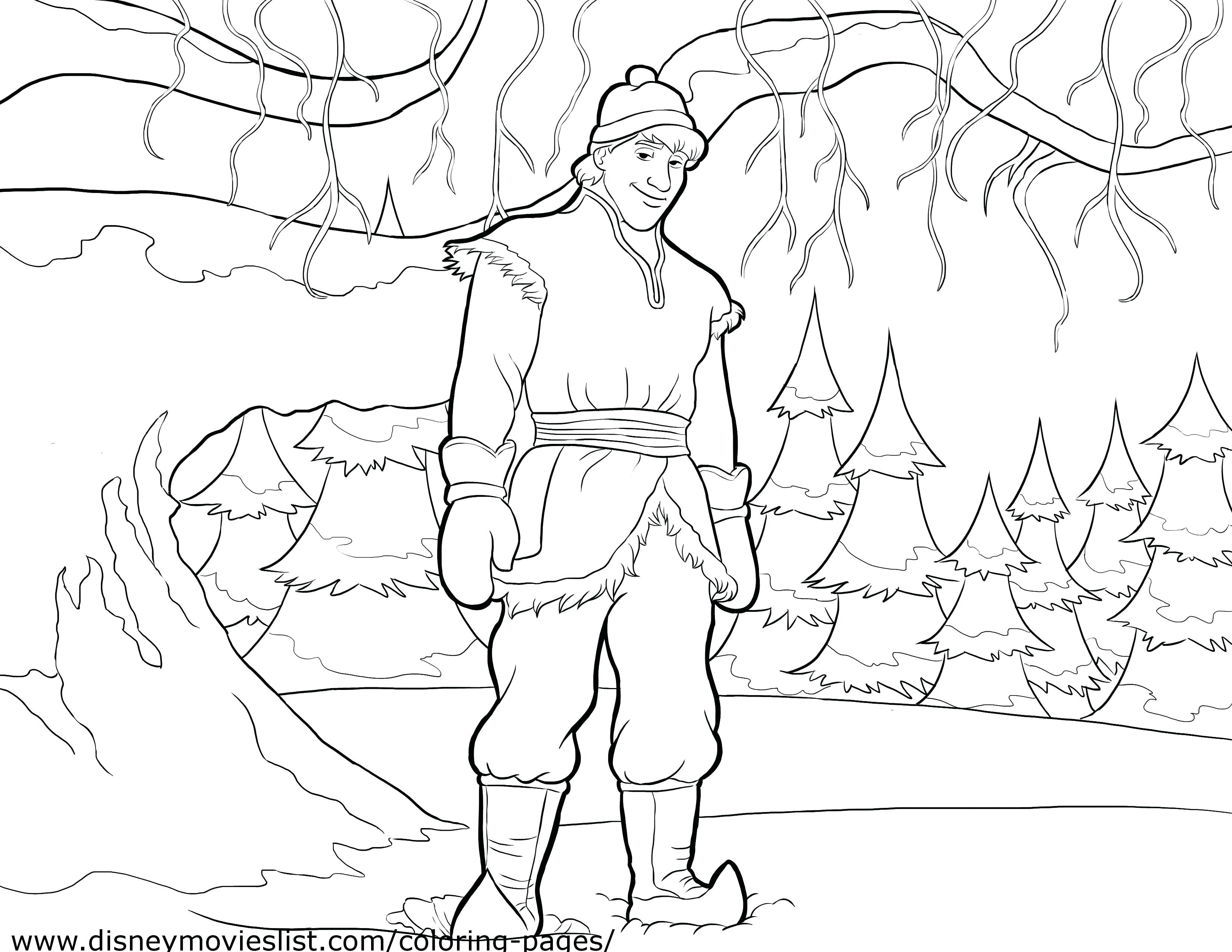 3300x2550 Coloring Pages Christmas Reindeer Official Frozen Kristoff