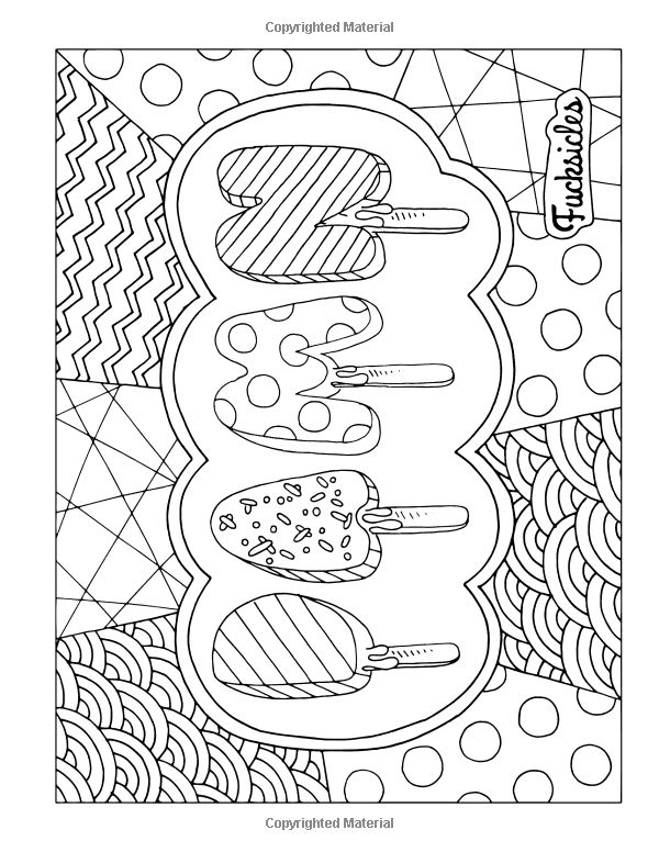Cuss Word Coloring Pages Printable