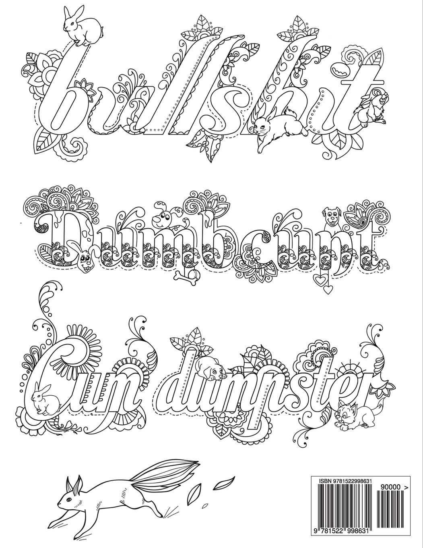 1051x1360 Big Free Swear Word Coloring Pages Pdf Amazo On Swear Word