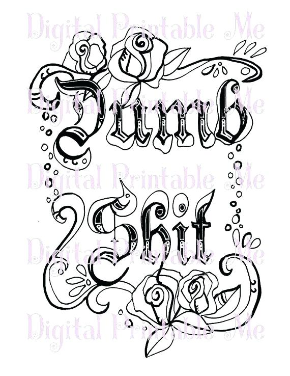 570x738 Swear Word Coloring Pages Printable Alphabet Swear Word Ng Book