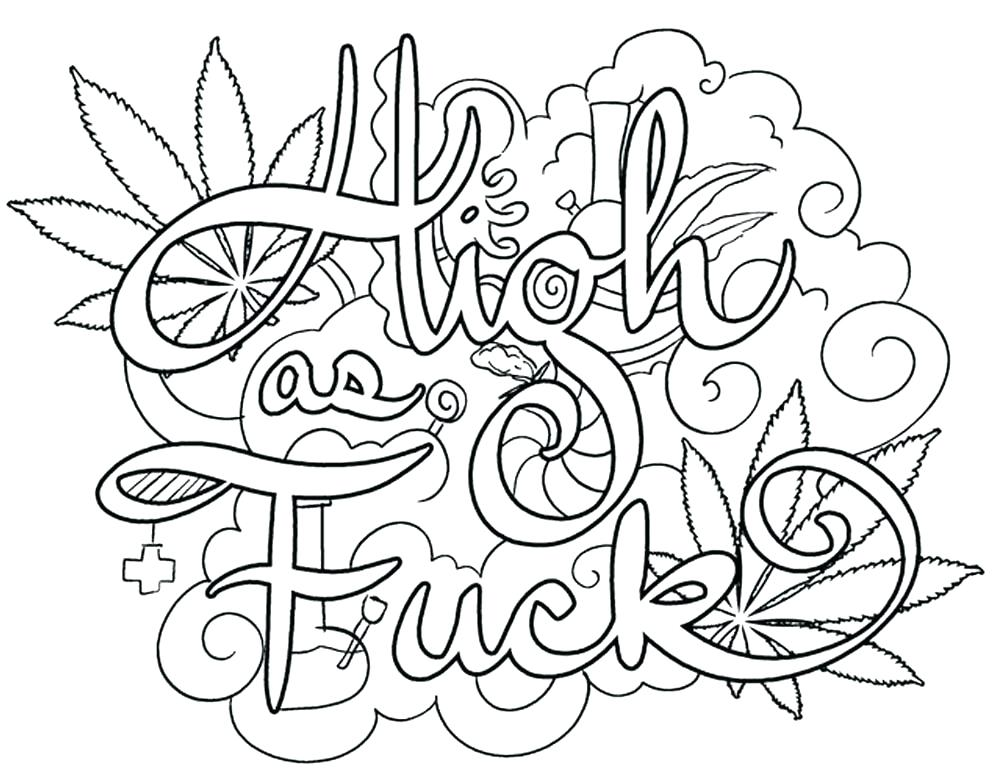 1000x780 Swear Word Coloring Pages Printable Free