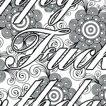 354x354 Beautiful Swear Word Coloring Pages Printable Free For Fancy