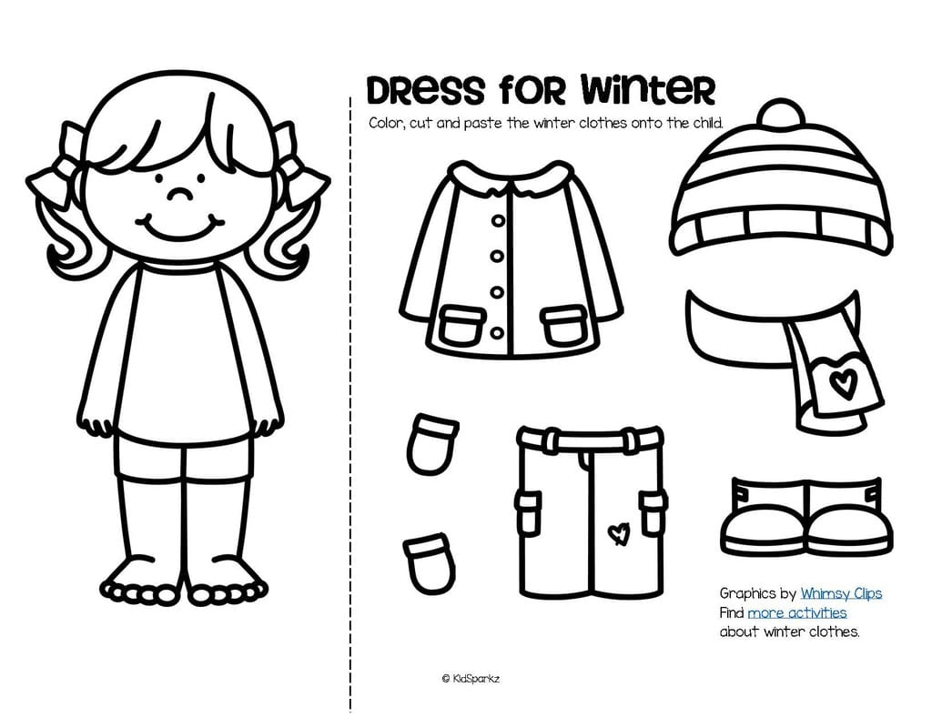 cut and paste coloring pages 36