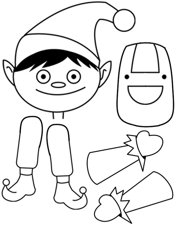 cut and paste coloring pages 6