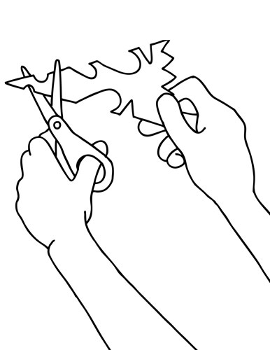 386x500 Snowflake Cutting Coloring Page Favorite Pre K Ideas