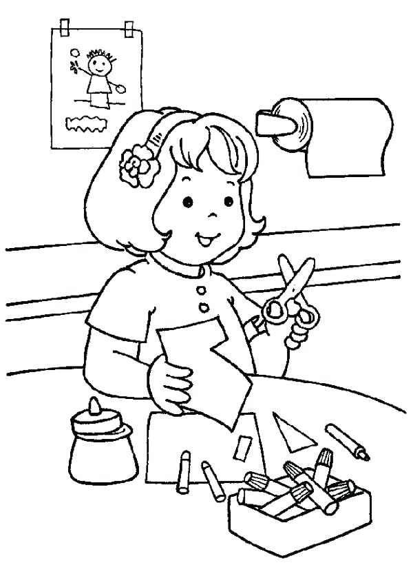 600x820 Cut Coloring Pages