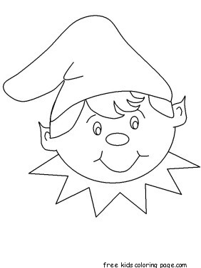 282x377 Print Out Christmas Elf Face Cut Out Coloring Pagesfree Printable