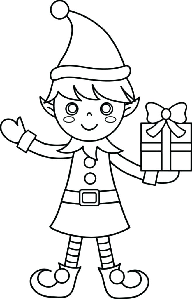 659x1024 Cut Out Coloring Pages Elf Coloring Page Free Print Out Elf Face
