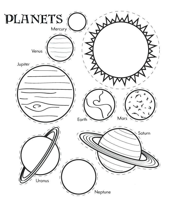 704x853 Coloring Pages Of Planets Cut Out Templates Free Coloring Pages