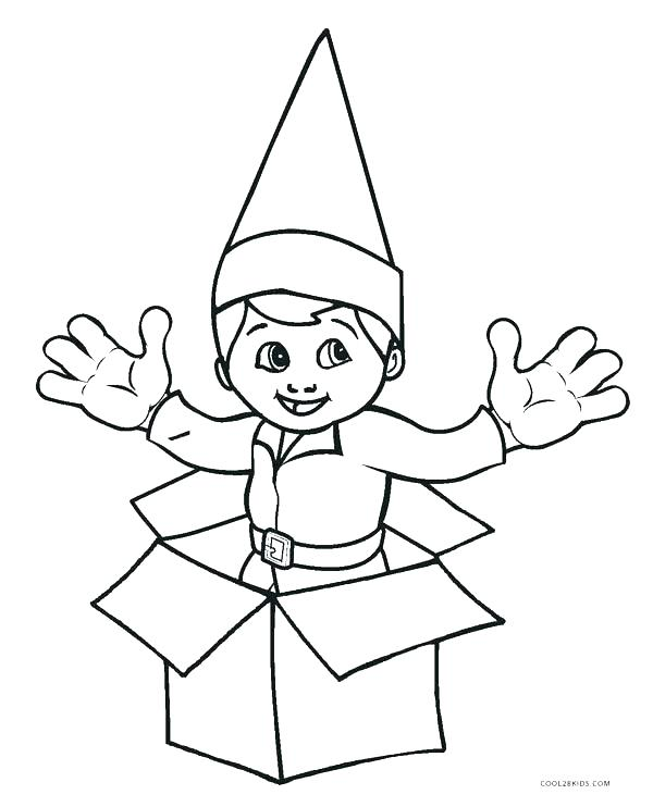 600x742 Cut Coloring Pages Cut Out Coloring Pages Elf Coloring Pages Free