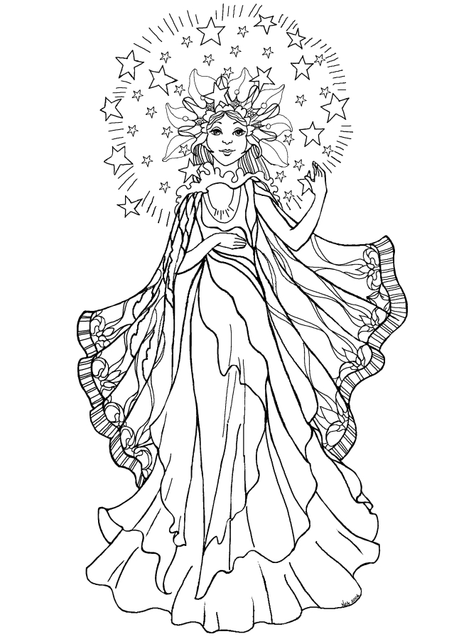 Cute Angel Coloring Pages