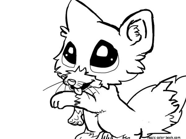 600x450 Cute Little Animal Coloring Pages