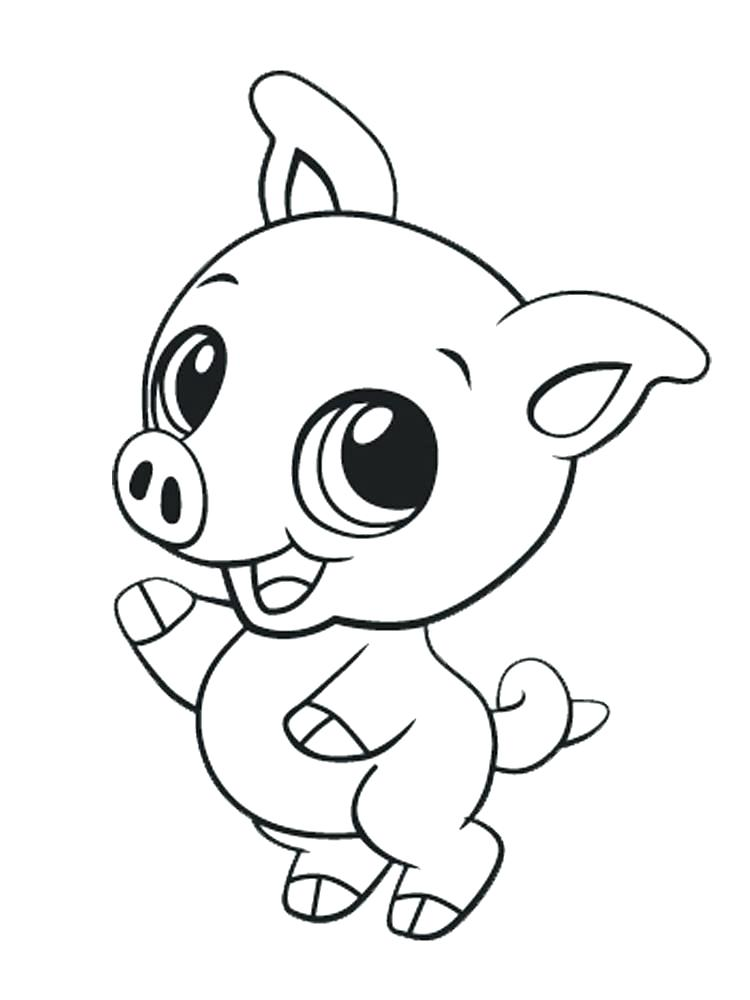 750x1000 Cute Baby Animal Coloring Pages Cute Ba Animal Coloring Pages