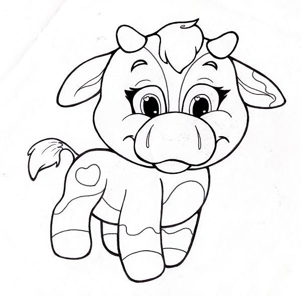 600x589 Cute Animal Coloring Pages Printables