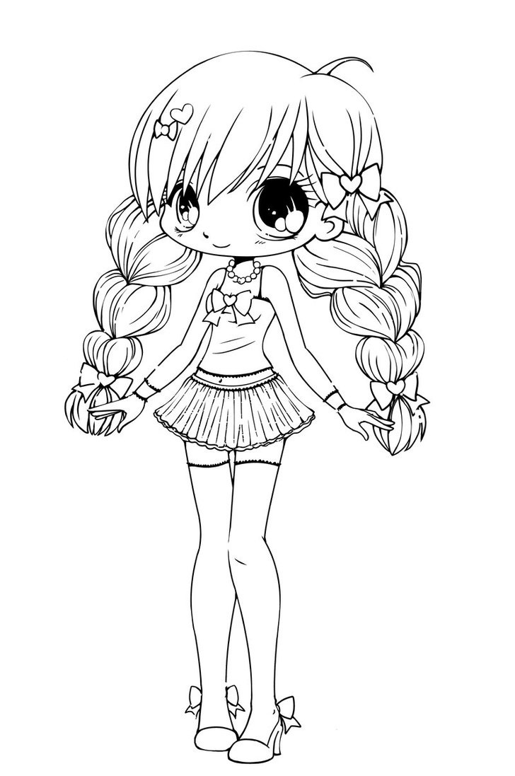 728x1097 Cute Girl Coloring Pages Paginone Biz