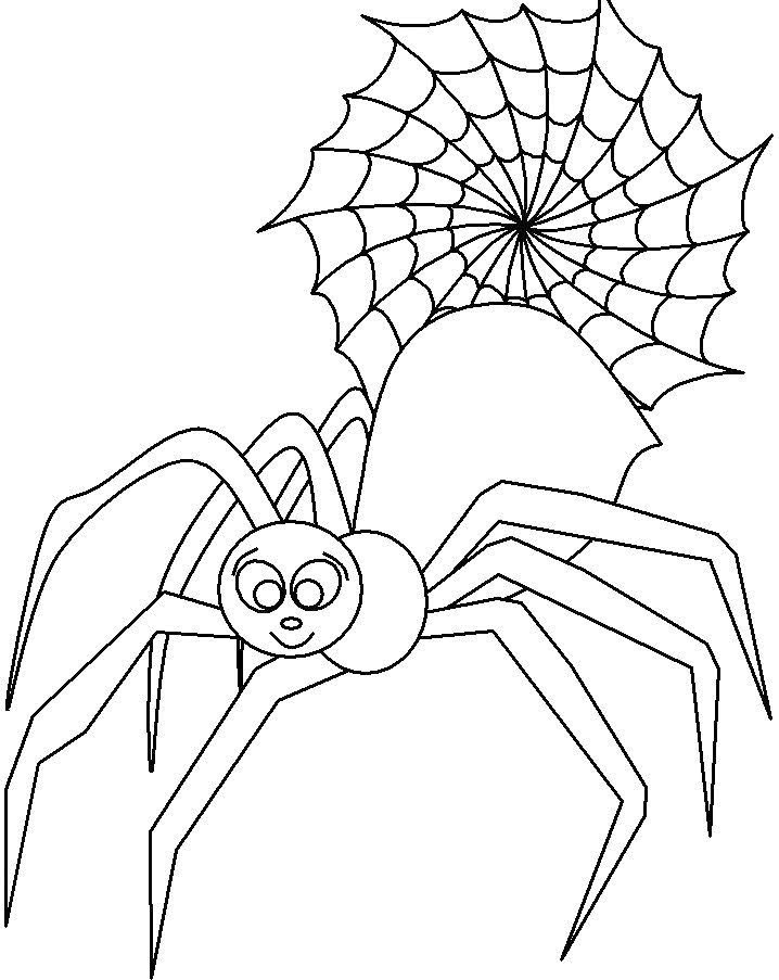 718x903 Cute Spider Coloring Page Image Clipart Images