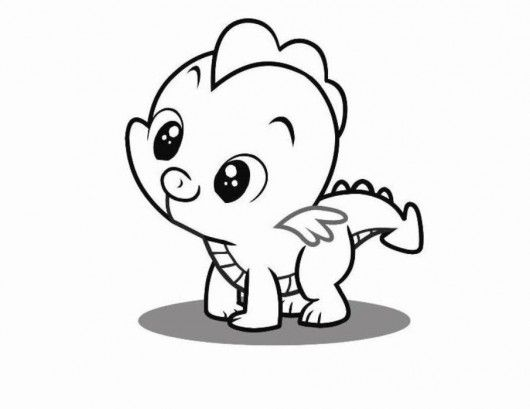 530x409 Baby Cartoon Animals Coloring Pages