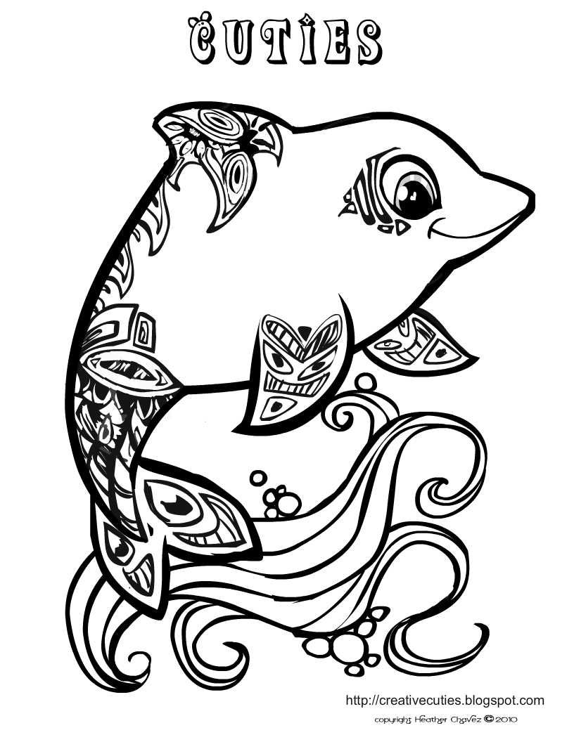 816x1056 Animal Coloring Pages For Girls Dolphins