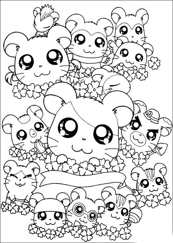 567x794 Cute Animal Coloring Pages For Girls Coloring For Kids