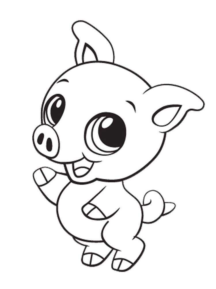 750x1000 Coloring Pages Cute Animals